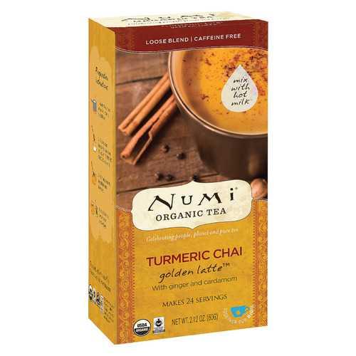 Numi Tea Golden Latte - Organic - Turmeric Chai - Case of 6 - 2.12 oz