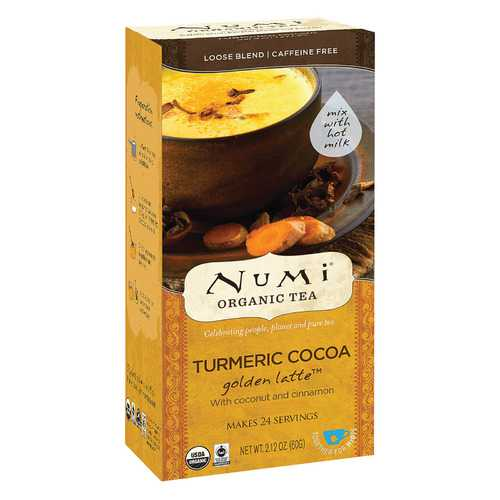 Numi Tea Golden Latte - Organic - Tumeric Cocoa - Case of 6 - 2.12 oz
