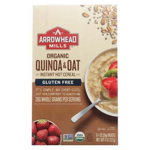 Arrowhead Mills Cereal - Quinoa & Oat - Gluten Free - Case of 6 - 8 oz