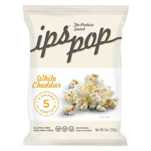 Ips Chips with Protein Popcorn - White Cheddar - Protein - Case of 6 - 5 oz