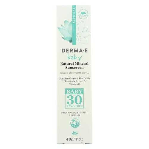 Derma E Sunscreen - SPF 30 Baby  - Case of 1 - 4 oz.