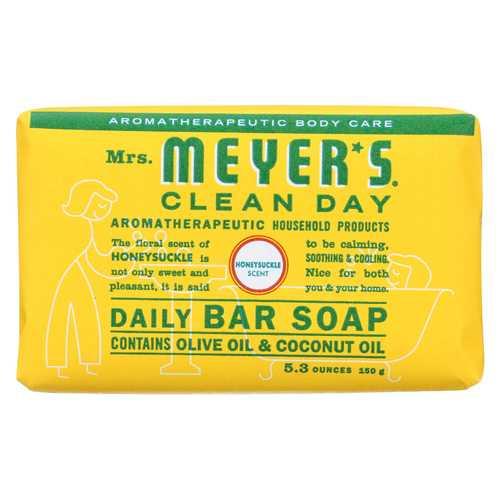 Mrs. Meyer's Clean Day - Bar Soap - Honeysuckle - Case of 12 - 5.3 oz