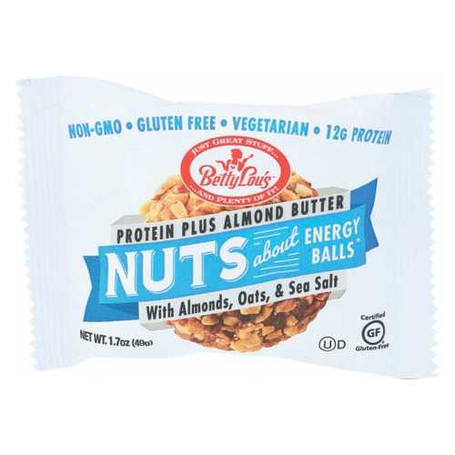 Betty Lou's Nut Butter Balls - Almond Butter - Case of 12 - 1.7 oz.
