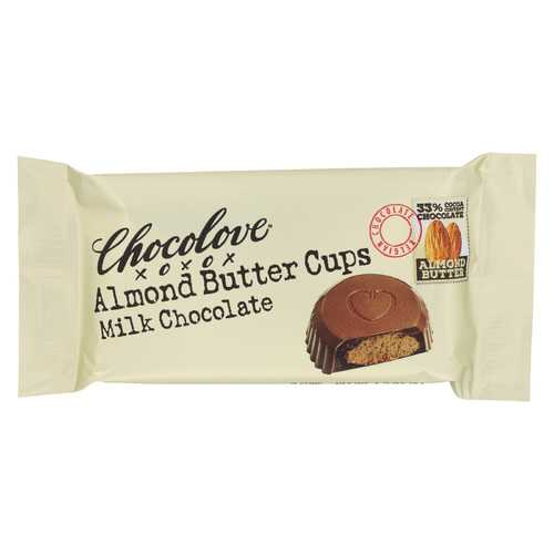 Chocolove Xoxox Cup - Almond Butter - Milk Chocolate - Case of 12 - 1.2 oz