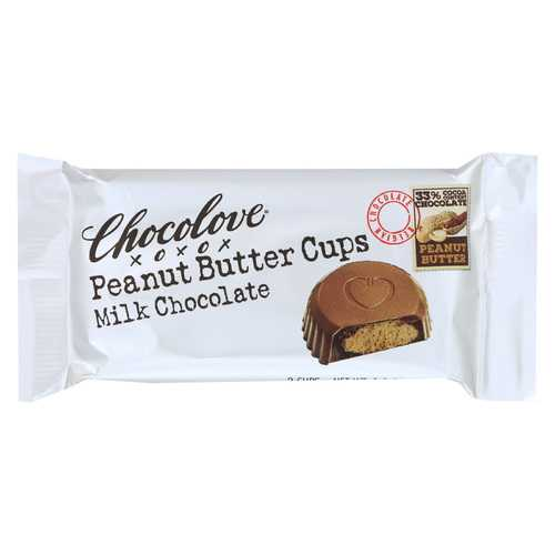 Chocolove Xoxox Cup - Peanut Butter - Milk Chocolate - Case of 12 - 1.2 oz