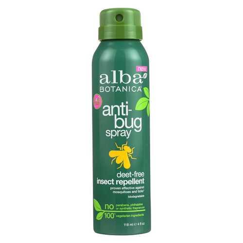 Alba Botanica Anti-Bug Spray - Deet Free - 4 fl oz