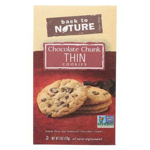 Back To Nature Cookie Thins - Chocolate Chunk - Case of 6-6 oz.