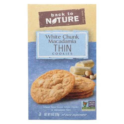 Back To Nature Cookie Thins - Macadamia Chunk - Case of 6-6 oz.