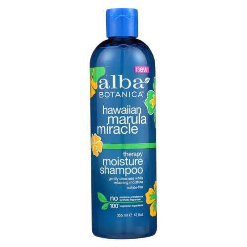 Alba Botanica Hawaiian Marula Miracle Shampoo - Therapy Moisture - 12 fl oz