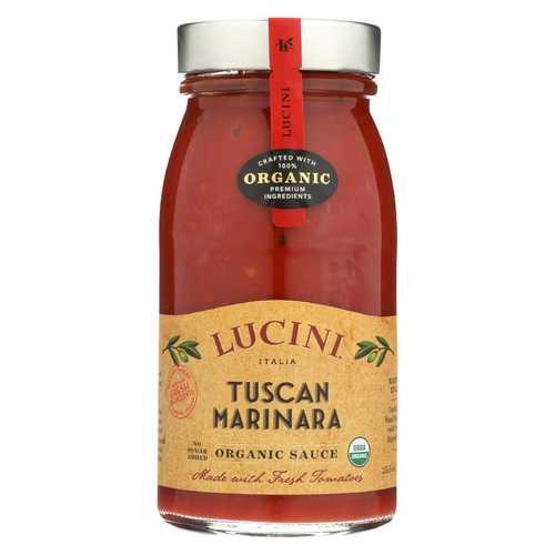 Lucini Italia Pasta Sauce - Tuscan Marinara - Case of 6 - 25.5 fl oz