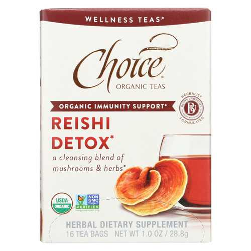 Choice Organic Teas Organic Wellness Tea - Reishi Detox - Case of 6 - 16 BAG