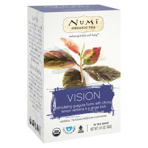 Numi Tea Organic Herb Tea - Vision - Case of 6 - 16 count