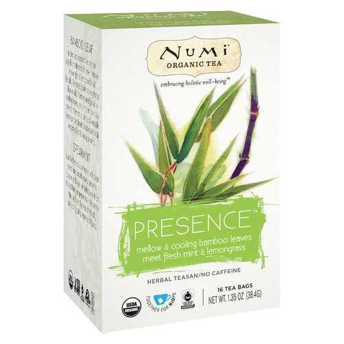 Numi Tea Organic Herb Tea - Presence - Case of 6 - 16 count