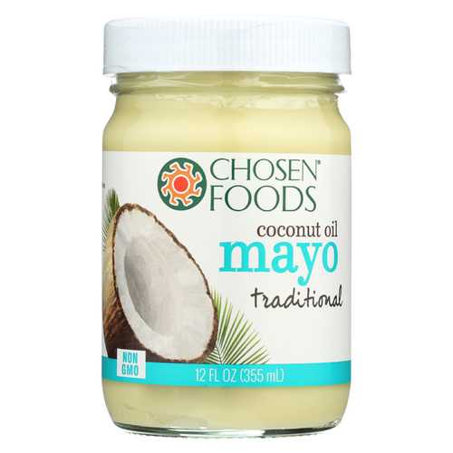 Chosen Foods Coconut Oil Mayo - Traditional - Case of 6 - 12 fl oz