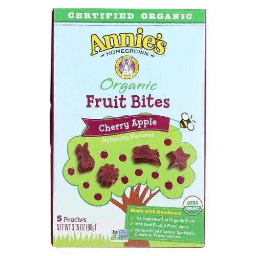 Annie'S Homegrown Fruit Bites Cherry Apple - Case Of 10 - 3.15 Oz