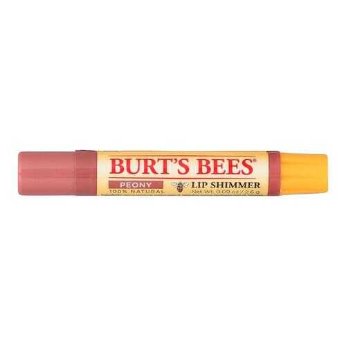 Burts Bees - Lip Shimmer - Peony - Case of 4 - 0.09 oz