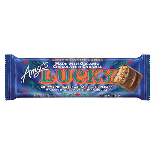 Amy's Candy Bar - Organic - Lucky - Case of 12 - 1.3 oz