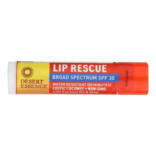 Desert Essence - Lip Balm - Exotic Coconut - Spf30 - Case of 24 - .15 oz