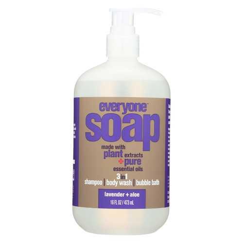 Everyone Soap - 3 In 1 - Lavender - Aloe - 16 fl oz