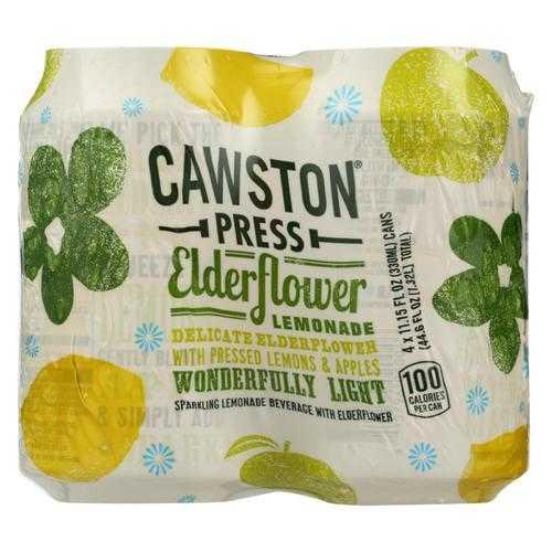 Cawston Press Sparkling Water - Elderflower Lemonade 4Pk - Case of 6 - 4/11.15Z