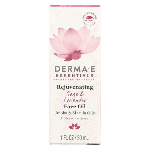 Derma E - Face Oil - Rejuvinating - Sage - Lavender - 1 fl oz.