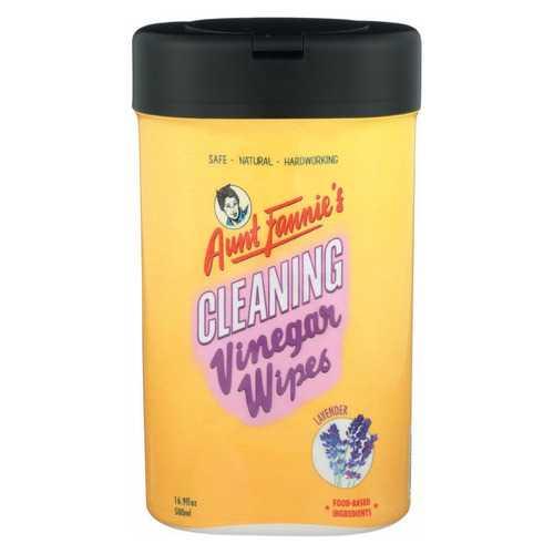Aunt Fannies Vinegar Wipes - Lavender - Case of 6 - 35 count