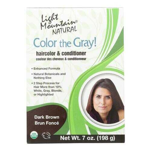 Light Mountain Hair Color - Color The Gray! Dark Brown - Case of 1 - 7 oz.