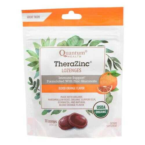 Quantum Research Thera Zinc Lozenges - Blood Orange - 18 count