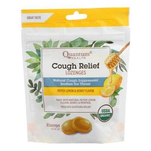 Quantum Research Organic Cough Relief Lozenges - Meyer Lemon & Honey - 18 count