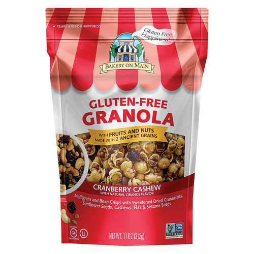 Bakery On Main Gluten Free Granola - Cranberry Orange Cashew - Case of 6 - 12 oz.