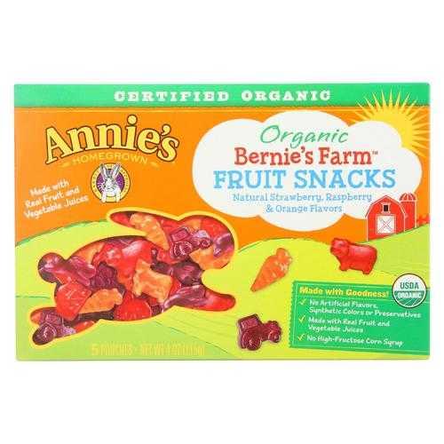 Annie'S Homegrown Fruit Snack Multipack Bernie'S Farm Fruit - Case Of 10 - 4 Oz