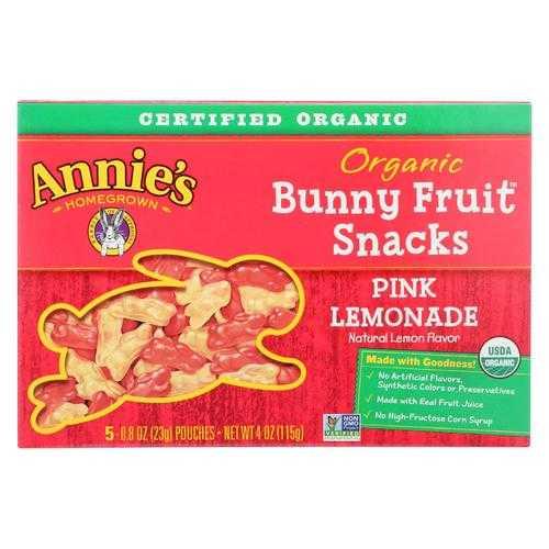 Annie'S Homegrown Fruit Snack Pink Lemonade - Case Of 10 - 4 Oz