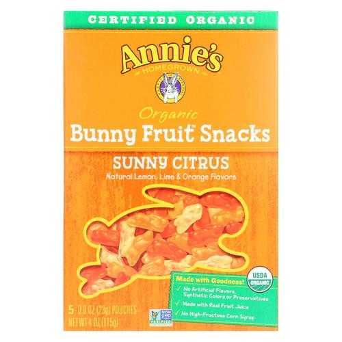 Annie'S Homegrown Fruit Snack Sunny Citrus - Case Of 10 - 4 Oz