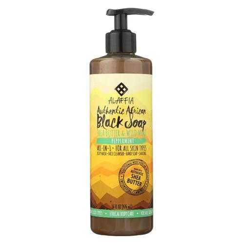Alaffia - African Black Soap - Peppermint - 16 fl oz.