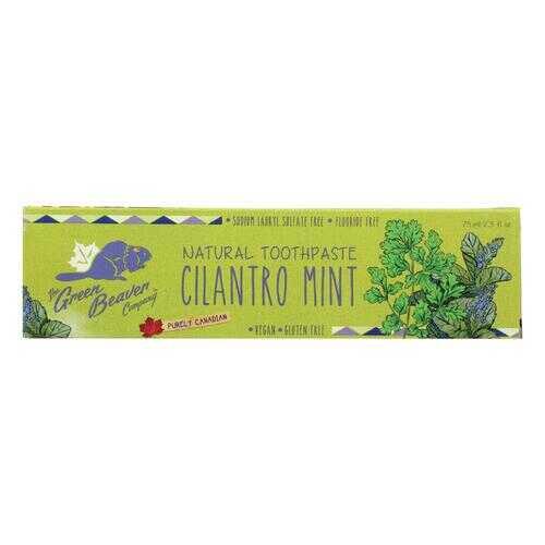 Green Beaver,The Toothpaste - Cilantro Mint Toothpaste - Case of 1 - 2.5 fl oz.