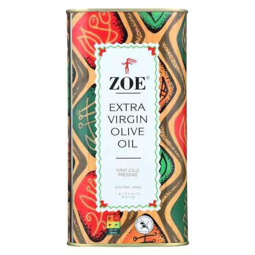 Zoe Olive Oil - Extra Virgin - Case of 6 - 1 LTR