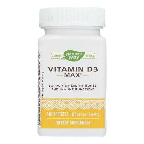 Nature's Way Vitamin D3 5,000 Iu Dietary Supplement  - 1 Each - 240 CT