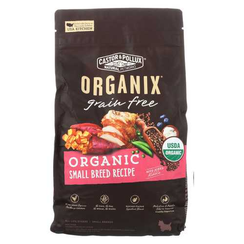 Castor and Pollux Organix - Organic - Small Breed - Case of 5 - 4 lb.