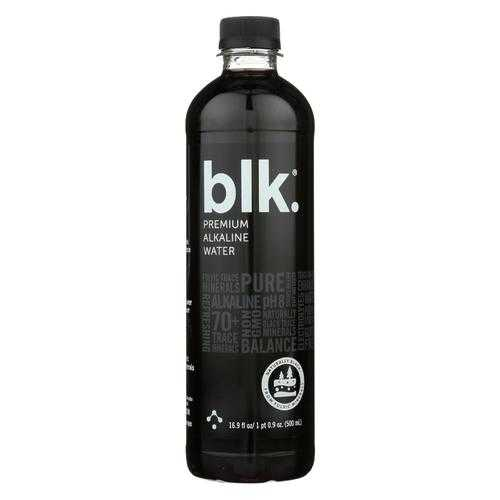 Blk Beverages Spring Water - Fulvic Infused Mineral Water - Case of 12 - 16.9 fl oz.