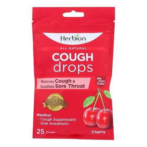 Herbion Naturals - Cough Drops Cherry - 1 Each - 25 CT