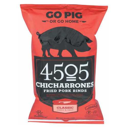 4505 Pork Rinds - Chicharones - Chili - Salt - Case of 12 - 2.5 oz