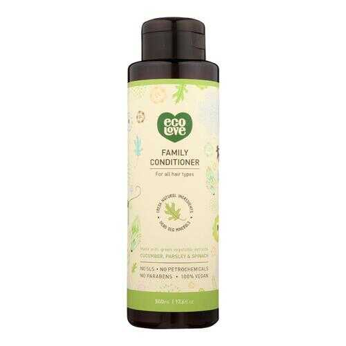 Ecolove Conditioner - Green Vegetables Family Conditioner For All Hair Types - Case of 1 - 17.6 fl oz.