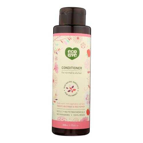 Ecolove Conditioner - Red Vegetables Conditioner For Normal To Oily Hair - Case of 1 - 17.6 fl oz.