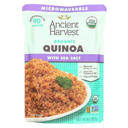 Ancient Harvest Organic Quinoa - with Sea Salt - Case of 12 - 8 oz
