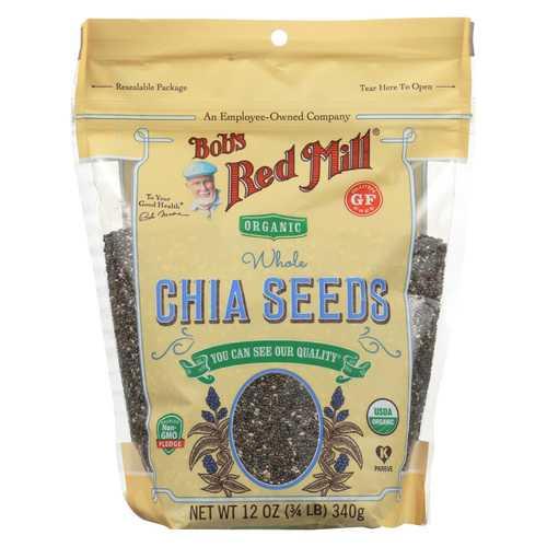 Bob's Red Mill Organic Seeds - Chia - Case of 6 - 12 oz
