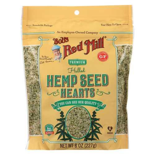Bob's Red Mill Hemp Seeds - Hulled - Case of 6 - 8 oz