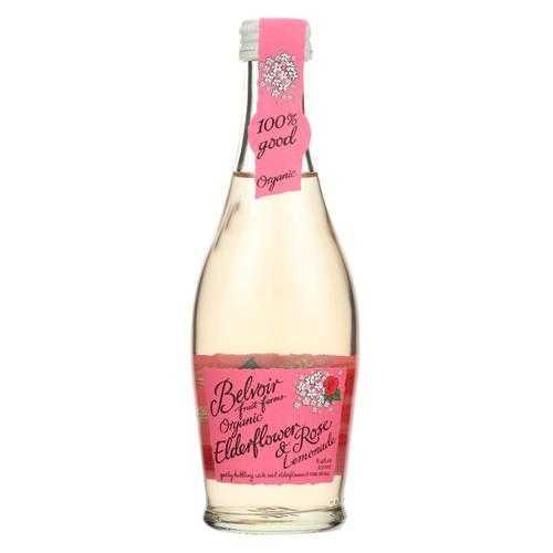 Belvoir - Organic Lemonade - Elderflower and Rose - Case of 24 - 8.4 fl oz.