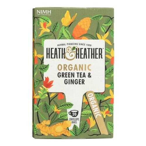 Heath & Heather - Tea Green W/ginger - Case of 6 - 20 CT