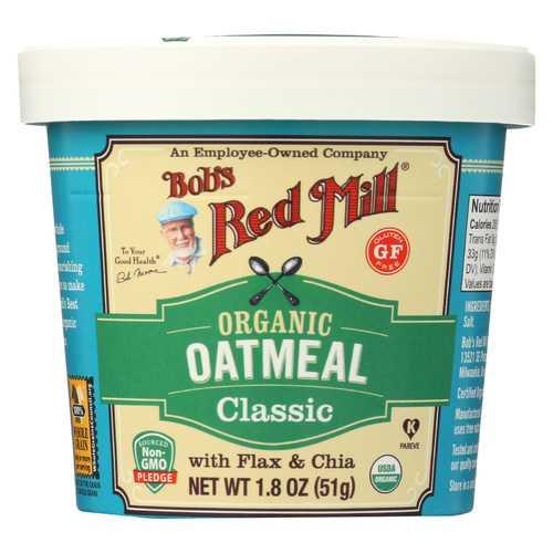 Bob's Red Mill Oatmeal - Organic - Cup - Classc - Gluten Free - Case of 12 - 1.8 oz
