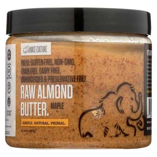 Base Culture Almond Butter - Maple - Case of 6 - 16 oz.